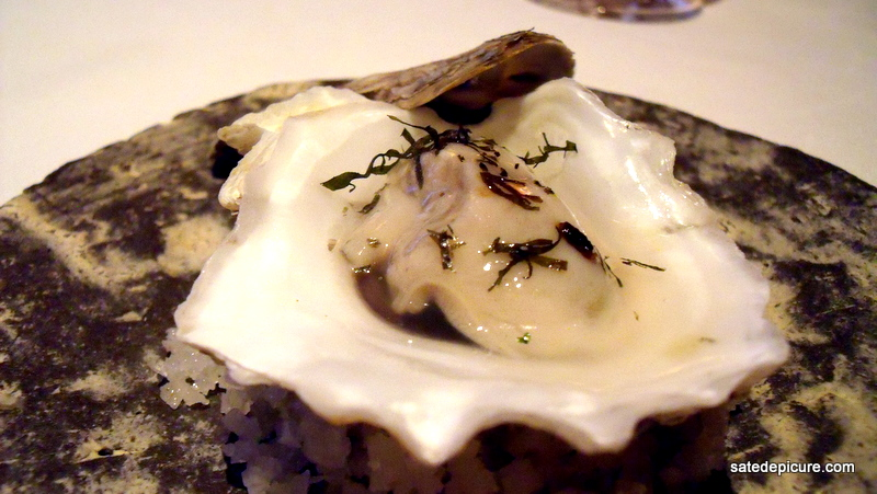 Oyster in Gelee with Julienne Nori