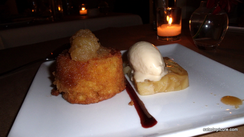 Semolina Cake with Pear Terrine, Vanilla Ice Cream