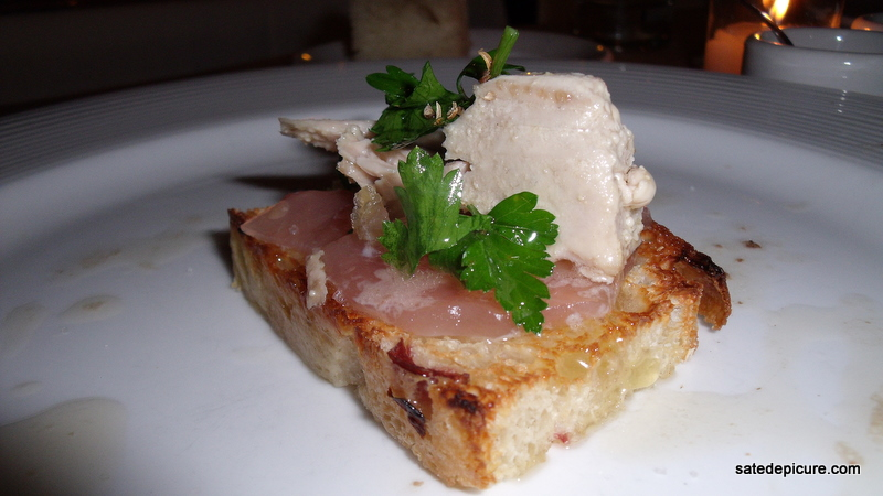 Tuna Crudo on Crostini