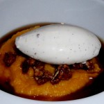 Pumpkin Polenta with Candied Pecans