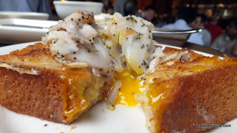 Sablefish Mail: Sablefish On Challah Bread With Molten Fried Egg