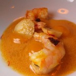 #5 Shrimp with Chipotle, Kabocha Squash, Saffron Broth