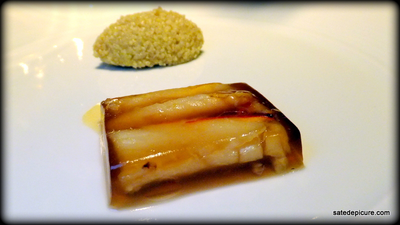 Hot Crab Aspic with Mini Corn Cous-Cous