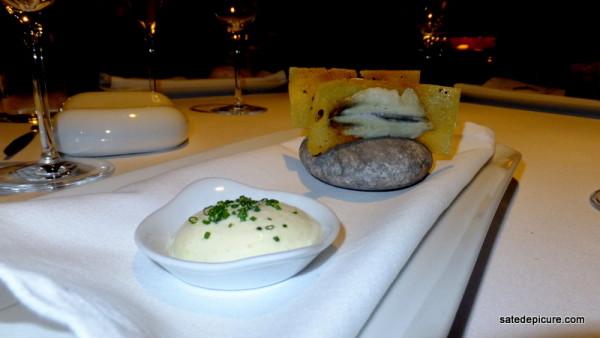 3. Balik Ekmek Crispy Sardines, Olive Oil Bread, Lemon Mousse