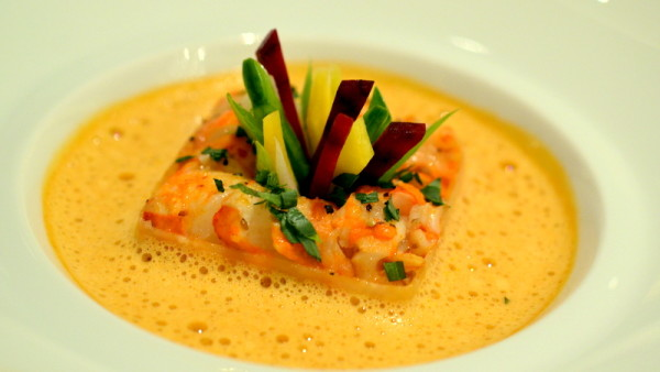Rounds of Loctudy Scampi, served in a delicate Colombard Rose jus