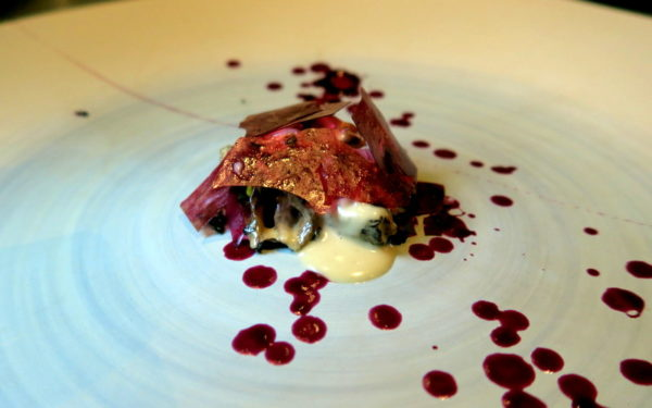Morel, blueberry, Lapsang Souchong