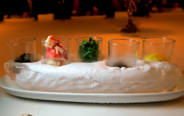 Truffle - King Crab - Osetra Caviar - Herbs with Pickled Shallot - Egg